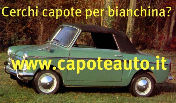 Autobianchi Bianchina Cabriolet cabrio pininfarina nero www.capoteauto.it ricambi accessori vendo compro