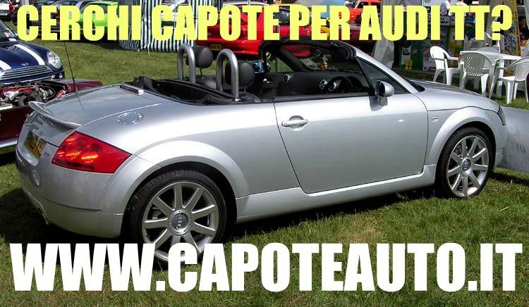 Capote Audi TT www.capoteauto.it cabrio lunotto vetro twillfast  nero