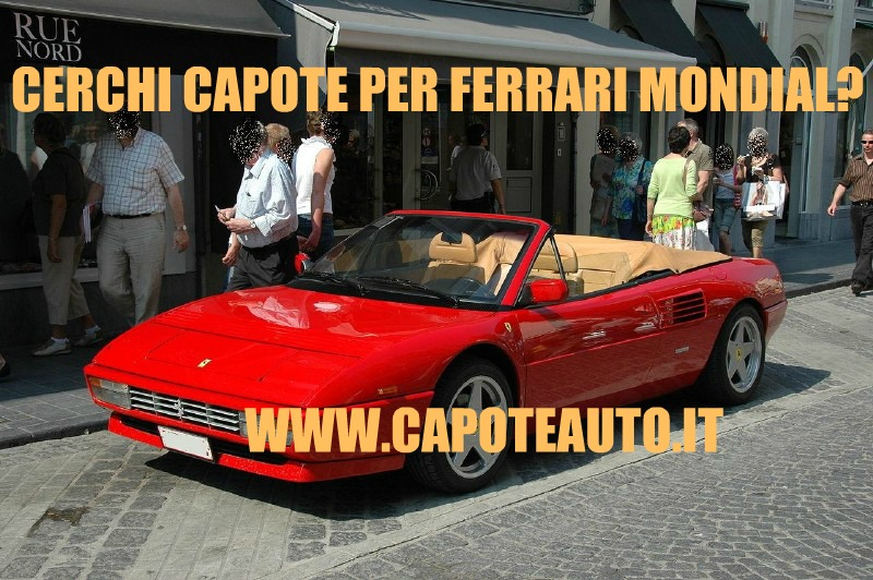 capote cappotta ferrari mondial spider cabrio twillfast nero. Black Bedroom Furniture Sets. Home Design Ideas