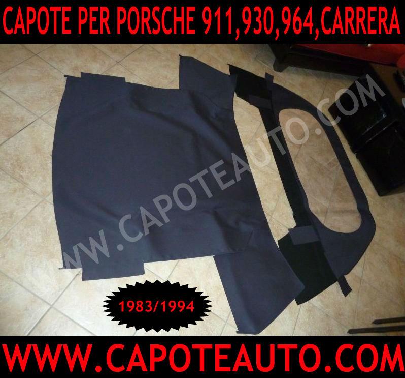 capote capota cappotta auto porsche 911 930 964 sc carrera speedster cabrio cabriolet prezzo