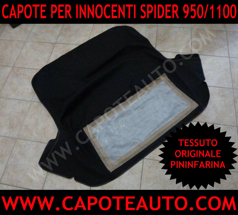 capote cappotta cappottina capota cappotte auto innocenti 950 1100 spider spyder tessuto originale Pininfarina