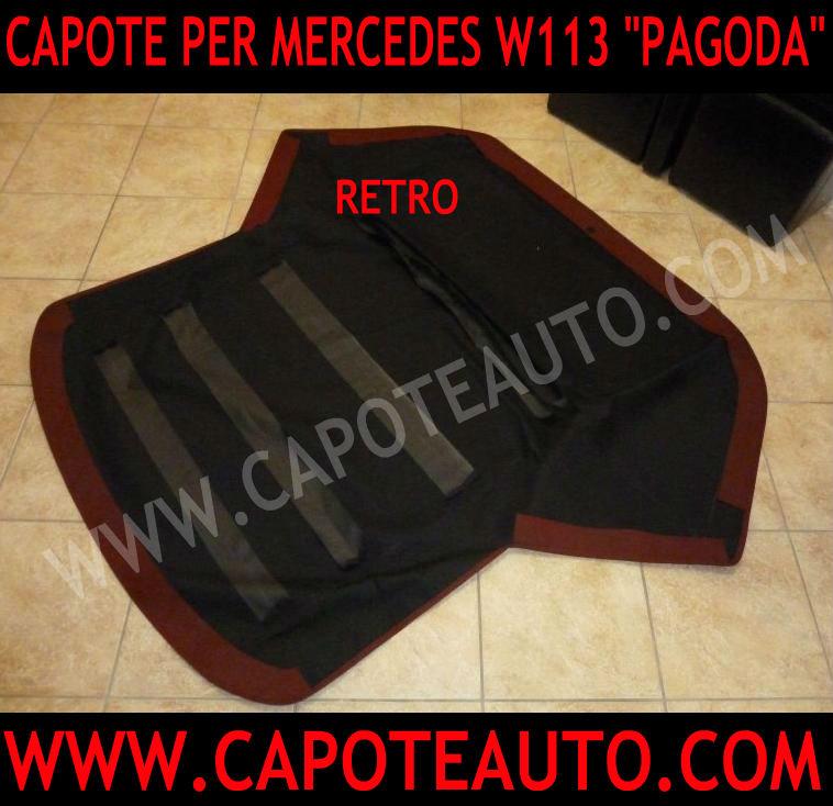 capote cappotta cappottina capota auto cabrio mercedes pagoda 113 w r c 230 sl 250 sl 280 sl vendo tessuto rosso rossa