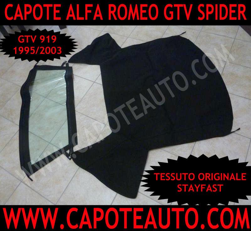 capote cappotta cappottina capota alfa romeo gtv spider 919 stayfast nero rosso bordeaux blu con lunotto