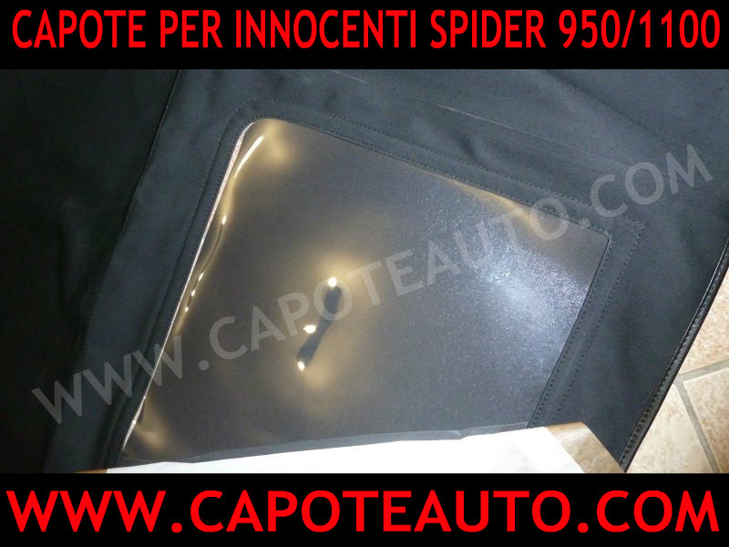 capote cappotta cappottina capota cappotte auto innocenti 950 1100 spider spyder tessuto originale Pininfarina lunotto
