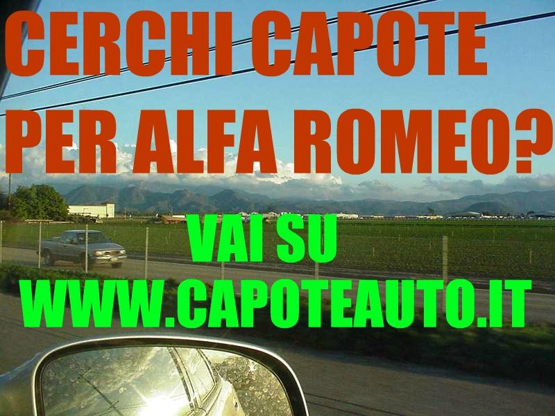 capote auto epoca cappotta alfa romeo 2000 touring pininfarina nero vendo