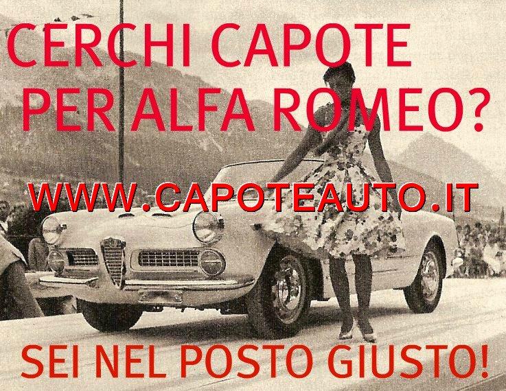 capote capotta cappotta auto alfa romeo giulietta corta pininfarina 56 57 58 59