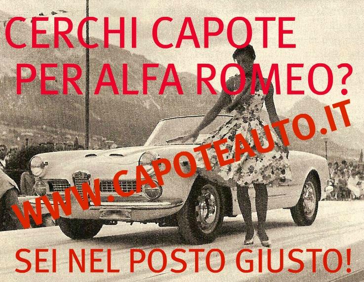 capote capotta cappotta auto alfa romeo giulietta lunga pininfarina 1961 1962 1963