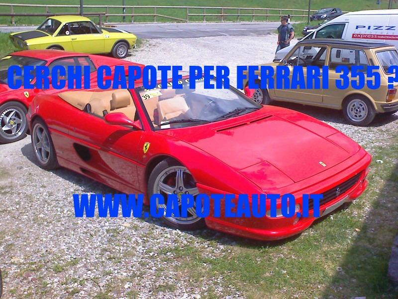 Capote cappotta capotta Ferrari 355 spider twillfast nero 1995 1999 ricambi accessori vendo compro usata