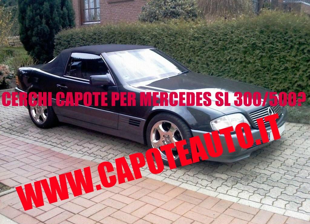 capote cappotta capotta mercedes benz DBR W129 SL 300 500 tre lunotti spider cabrio cabriolet ricambi accessori vendo compro usata