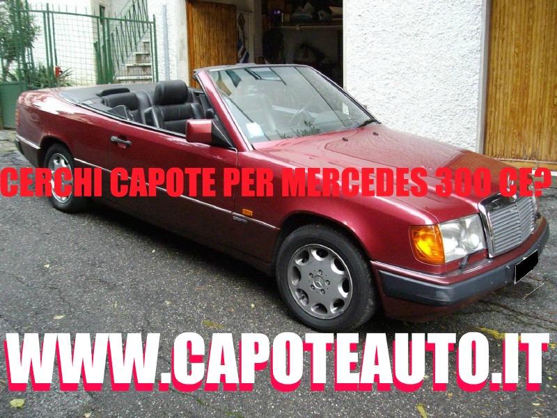 capote cappotta capotta mercedes benz 300 CE spider cabrio cabriolet ricambi accessori vendo compro usata