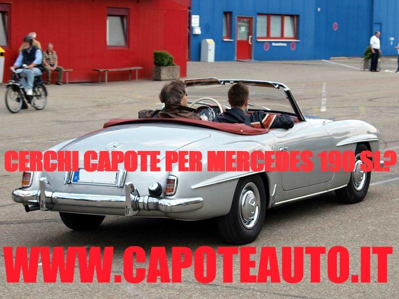 capote cappotta capotta mercedes benz DB W190 SL un lunotto spider cabrio cabriolet ricambi accessori vendo compro usata