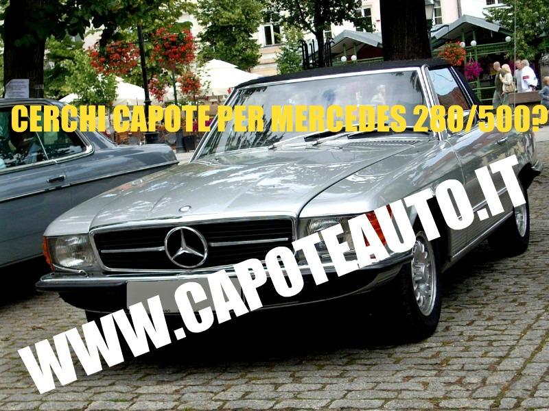 capote cappotta capotta mercedes benz DB W107 SL 280 500 tre lunotti spider cabrio cabriolet ricambi accessori vendo compro usata