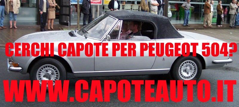 capote cappotta capotta peugeot 504 pininfarina spider cabrio cabriolet ricambi accessori vendo compro usata
