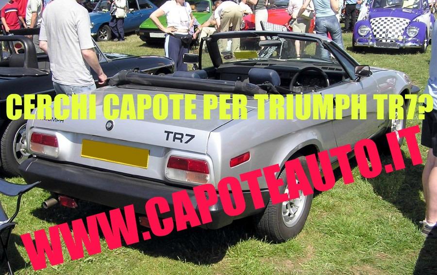 capote cappotta capotta triumph tr7 tr8 spider cabrio cabriolet ricambi accessori vendo compro usata