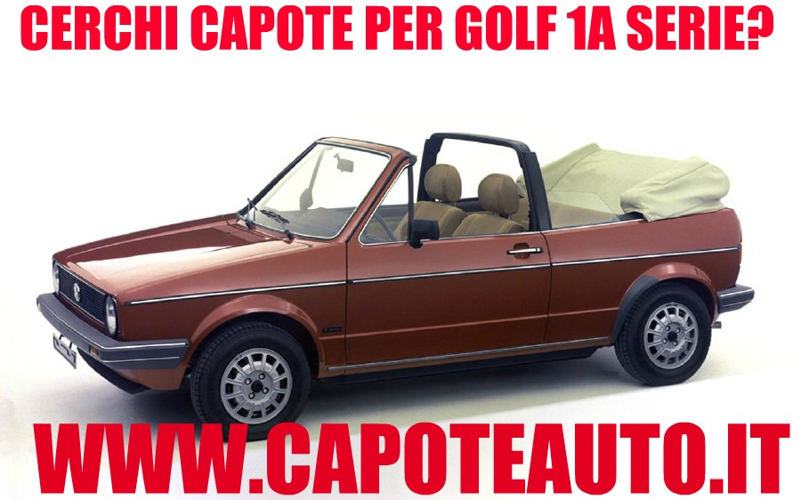 capote cappotta volkswagen golf prima serie in pvc colore nero. Black Bedroom Furniture Sets. Home Design Ideas