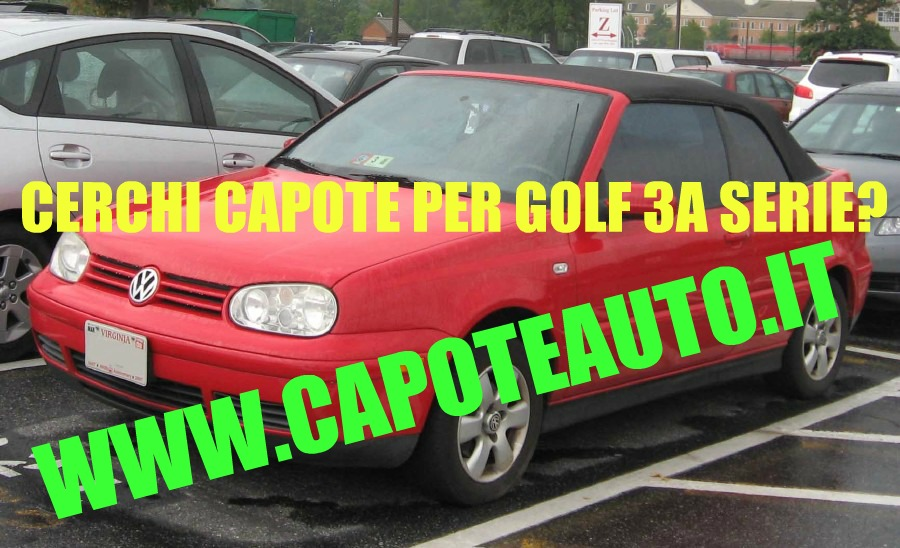 capote cappotta volkswagen golf cabrio terza serie in pvc nero. Black Bedroom Furniture Sets. Home Design Ideas