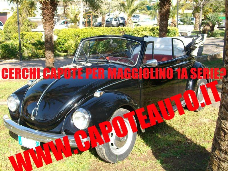 capote cappotta capotta volkswagen maggiolino 1a serie prima  spider cabrio cabriolet ricambi accessori vendo compro usata