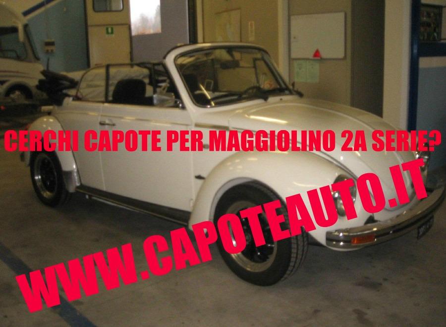 capote cappotta capotta volkswagen maggiolino 2a serie prima spider cabrio cabriolet ricambi accessori vendo compro usata