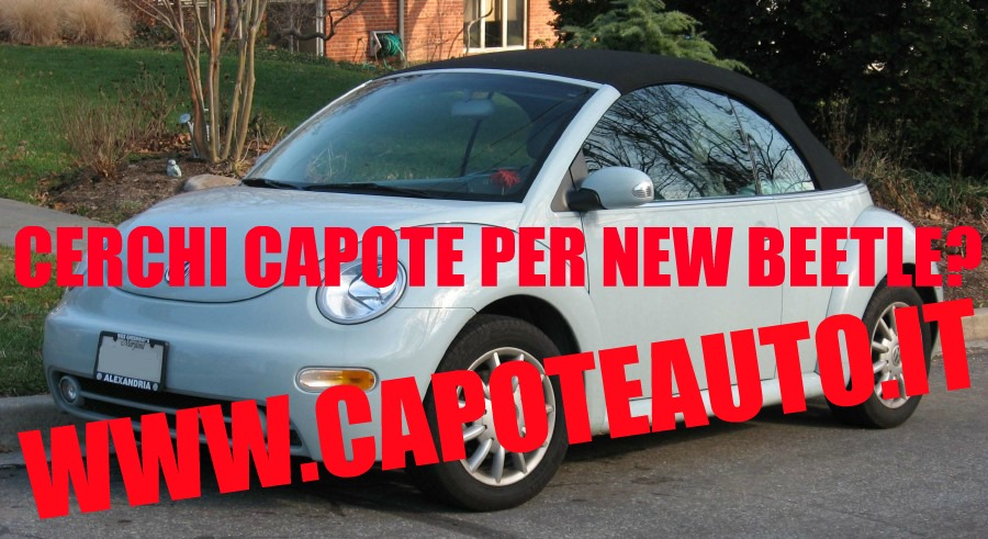 capote cappotta capotta volkswagen new beetle con lunotto in vetro spider cabrio cabriolet ricambi accessori vendo compro usata