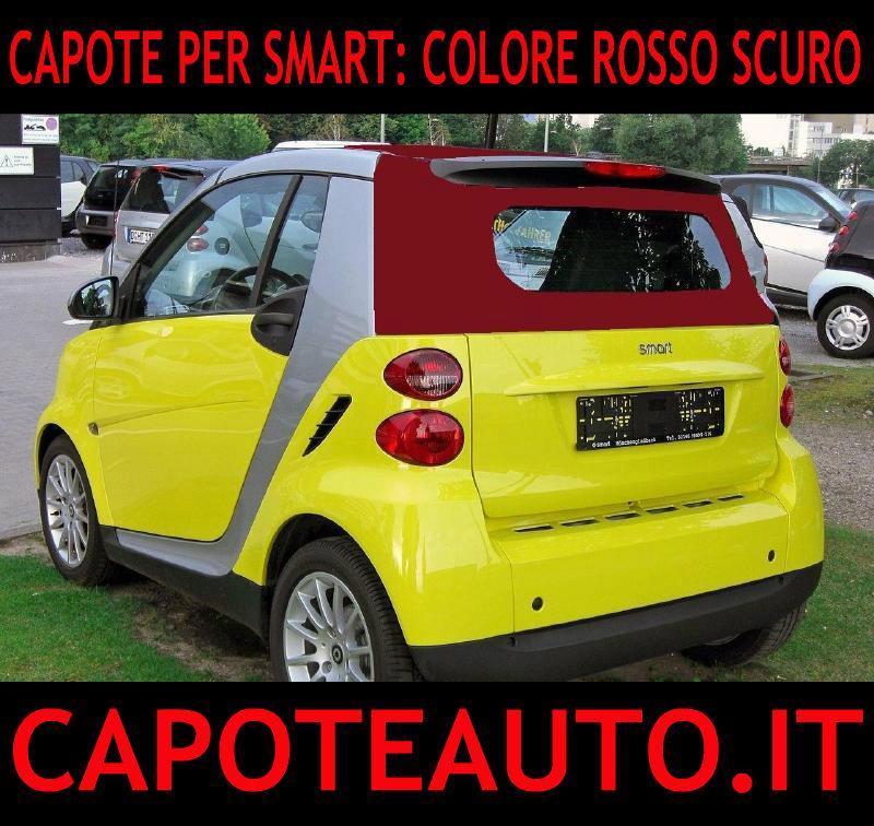 capote cappotta capotta colorata smart spider rosso amaranto cabrio cabriolet ricambi accessori vendo compro usata