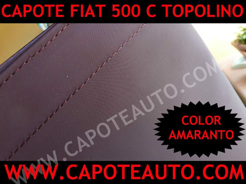 capote cappotte cappotta auto cabrio fiat 500 c topolino epoca pvc originale lunotto elettrosaldato