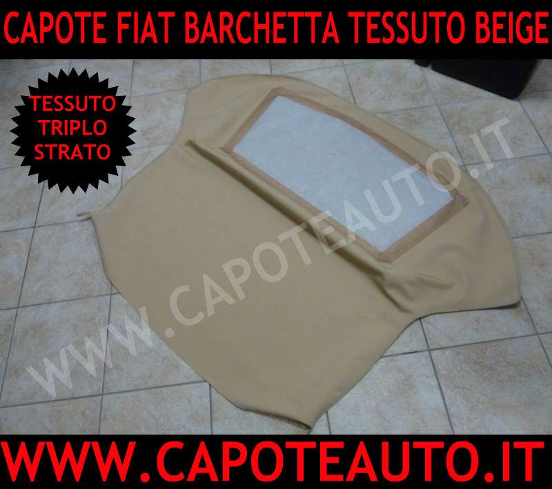 capote cappotta fiat barchetta beige avorio economica prezzo tessuto triplo strato