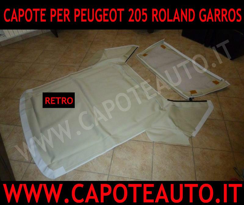 capote cappotta cappottina originale per Peugeot 205 Roland Garros edizione limitata