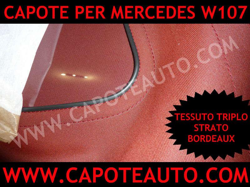 capote auto cabrio cappotta mercedes benz 107 280 300 350 420 450 500 sl