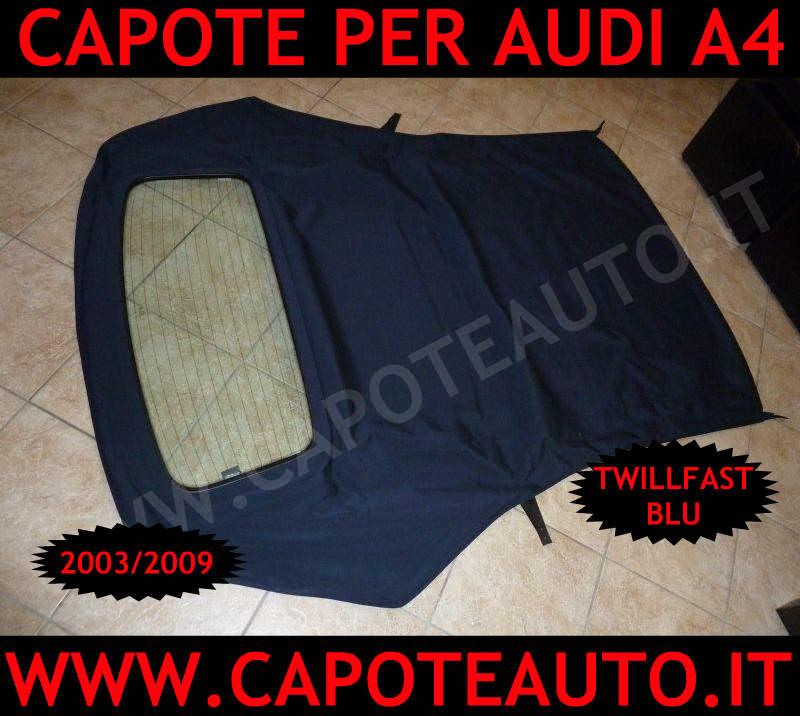 vendita capote cappotte auto cappotta adi a4 s4 cabrio cabriolet twillfast II rpc blu