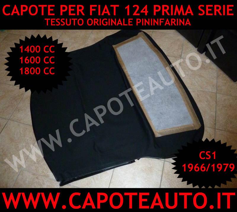 capote cappotta capota per Fiat 124 epoca cs1 prima serie con punte 1400 1600 1800 1966/1979