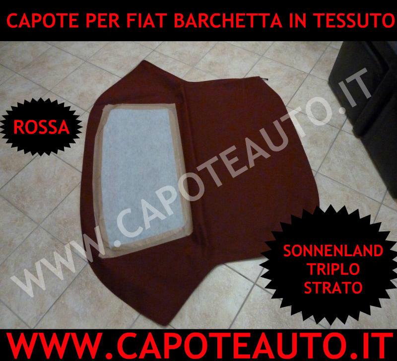 capote cappotta capota fiat barchetta cabrio tessuto rosso rossa triplo strato