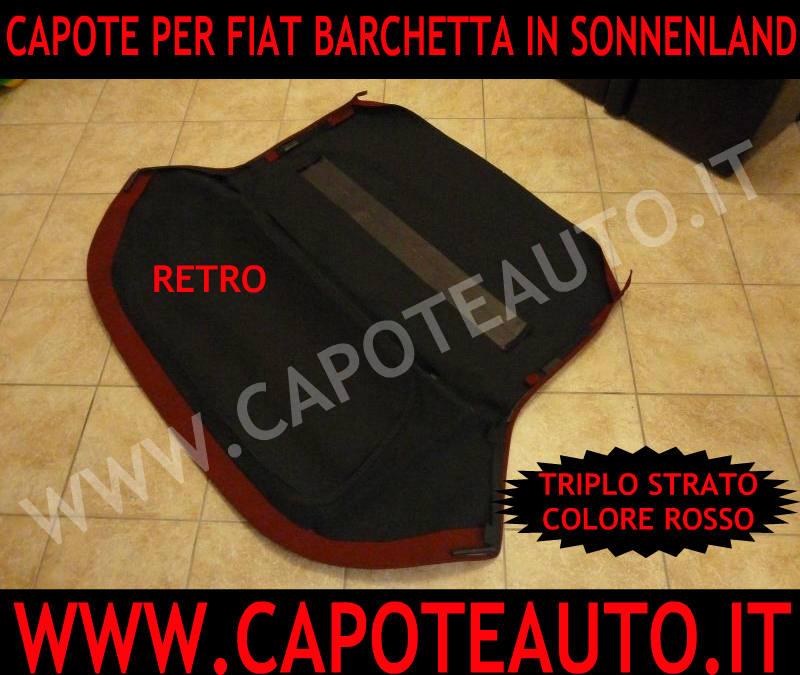 capote cappotta capota rossa fiat cabrio barchetta tessuto sonnenland triplo strato