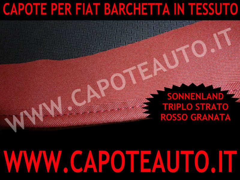capote cappotta fiat barchetta tessuto sonnenland rosso rossa granata bordeaux limited edition