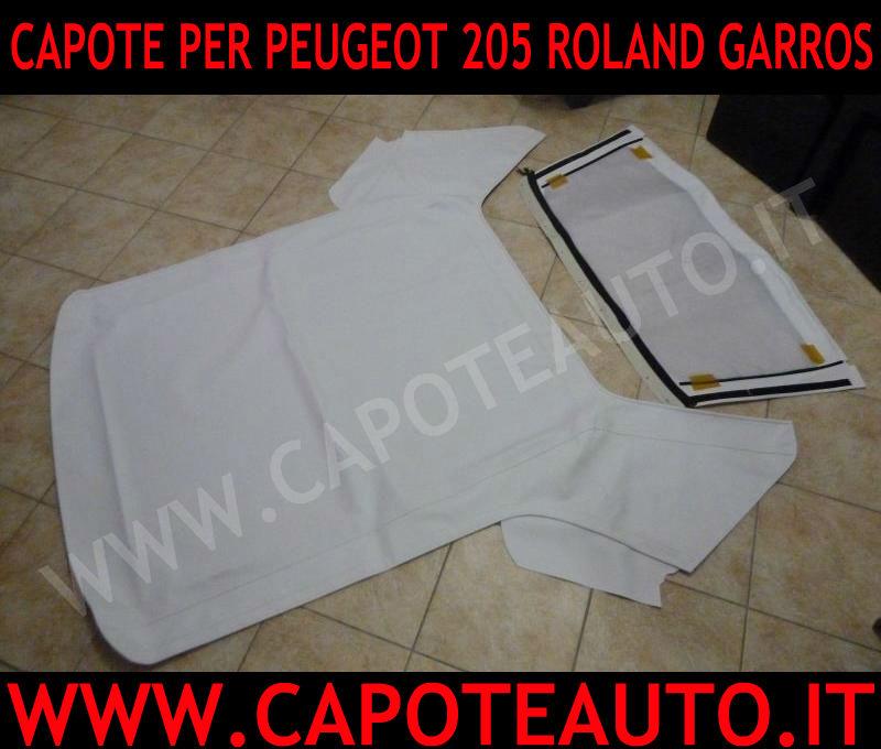 cappotta capota capote Peugeot 205 cabrio Roland Garros originale