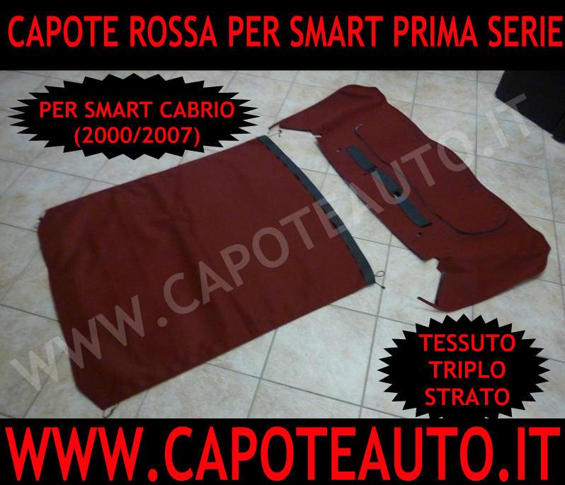 capote cappotta capota cappottina rossa smart cabrio prima serie  450 fortwo 2000 2007