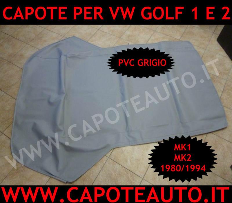capote cappotta volkswagen golf 1 2 cabrio epoca mk1 mk2 pv grigio grigia originale