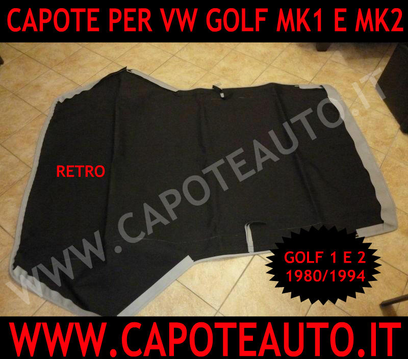 capote cappotta volkswagen golf prima serie in pvc colore grigio. Black Bedroom Furniture Sets. Home Design Ideas
