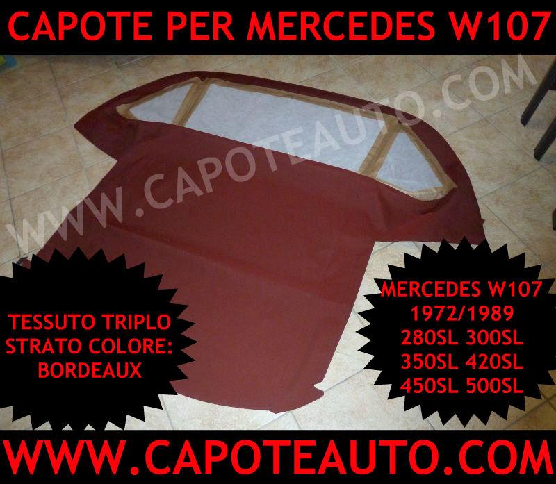 capote auto cabrio cappotta mercedes 107 280 300 350 420 450 500 sl