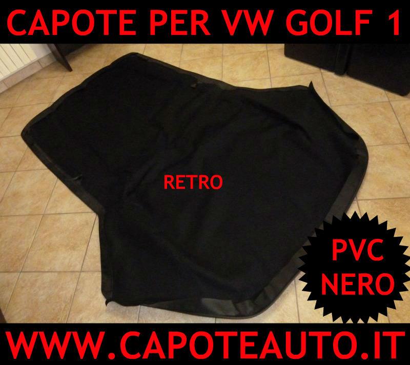 vendo cappotta capota capota Volkswagen VW Golf 1 2 mk1 mk2 pvc nero retro