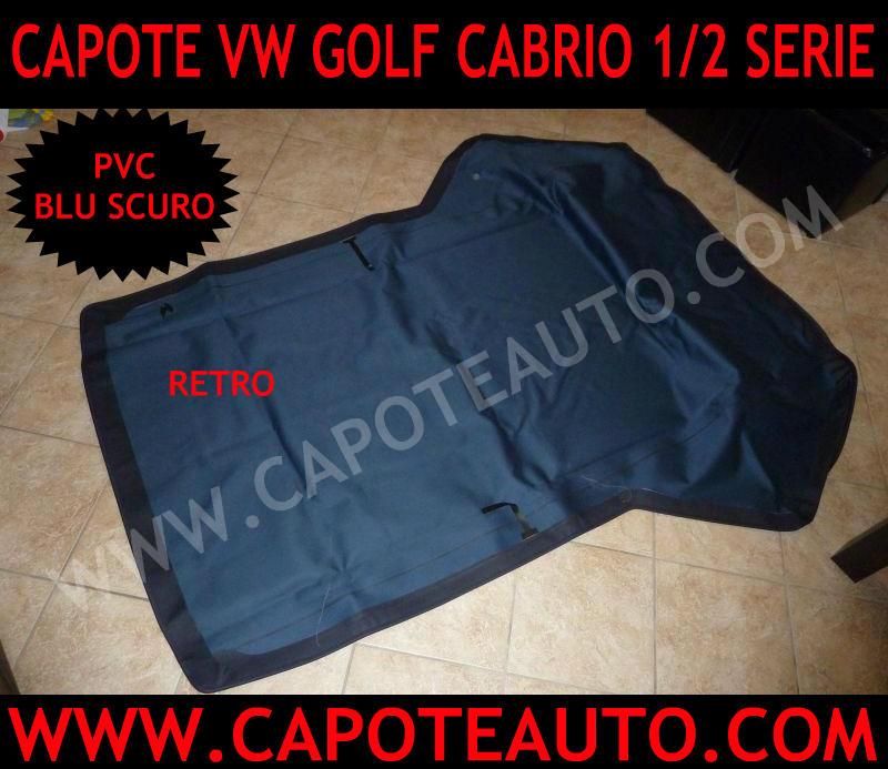 capote cappotta capota volkswagen cabrio golf 1 2 serie auto epoca pvc blu
