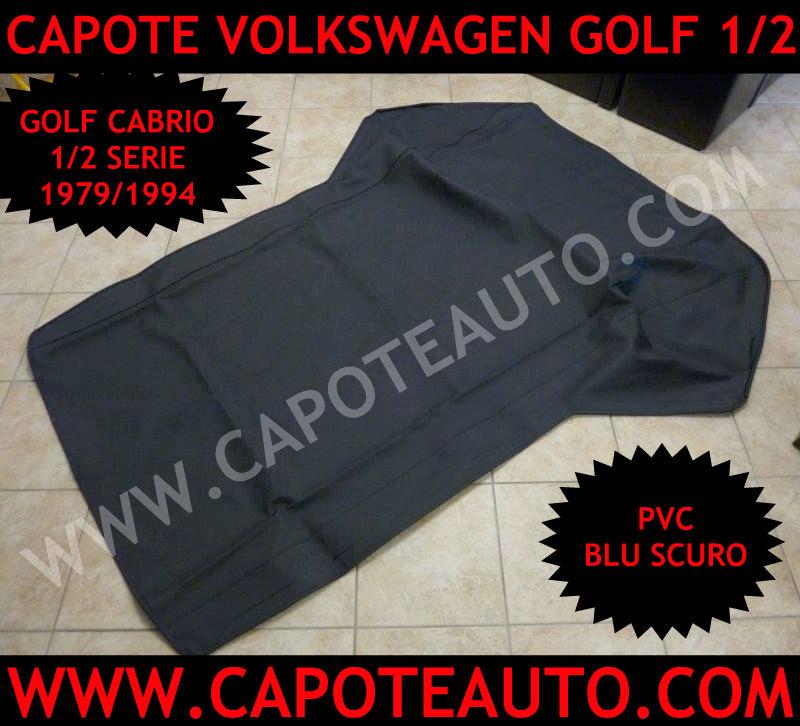 capote cappotta volkswagen cabrio golf 1 2 serie auto epoca pvc blu