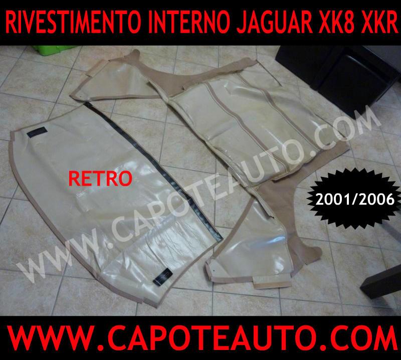 Rivestimento interno sottocielo cielo capote jaguar xk8 xkr 2001 2006