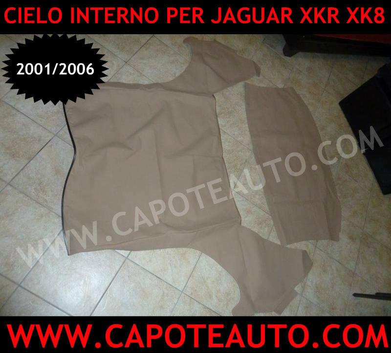 rivestimento interno cielo sottocielo cappotta capote Jaguar Xk8 xkr